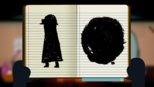 Запись, в дневнике Мэй.