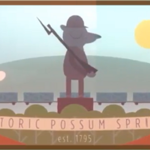 Историческая фреска Поссум Спрингс