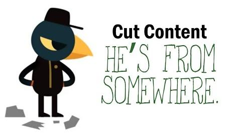 "Cut Content Night in the Woods - ""He's from somewhere."""
