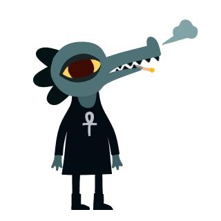 Курит