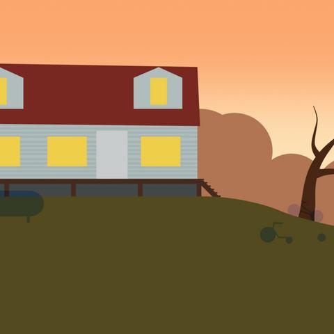 Дом Герма из ранней версии игры.