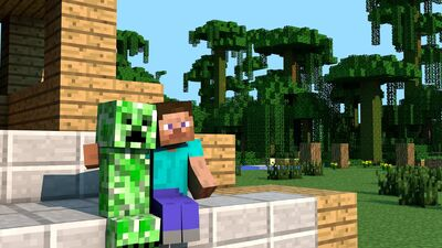 Creeper-Steve-Minecraft-HD-Wallpaper