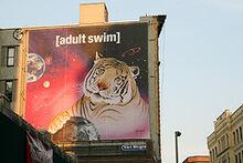 Adult swim tiger billboard