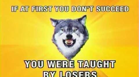 Adult Swim- Courage Wolf Message