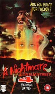 NIGHTMARE ON ELM STREET 4 PAL VHS CBS-FOX VIDEO BRITAIN 1989 - found by IALOCINNICOLAI IALOCIN NICOLAI
