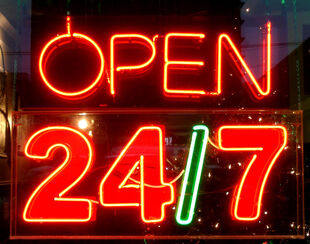 A 24/7 sign for the garage in Thornleigh