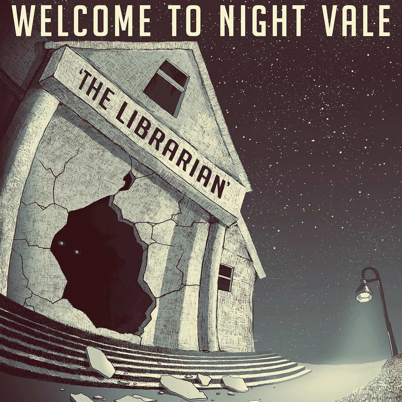Image result for night vale library