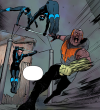 Nightwing 7 - Raptor and Nightwing brutally fight