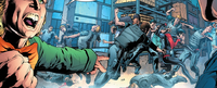 Nightwing 27 (2012) - Nightwing and Mali fight the Mad Hatter's men