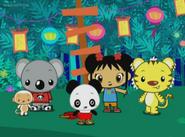 .028 Kai Lan Rintoo Tolee Hoho Baby Panda & Zachary
