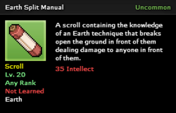 Earth Split Technique Scroll Infobox