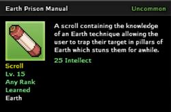 Earth Prison Technique Scroll Infobox