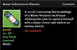 Water Substitution Technique Scroll Infobox