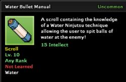 Water Bullet Technique Scroll Infobox
