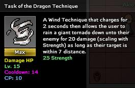 Task of the dragon max