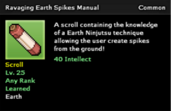 Ravaging Earth Spikes Technique Scroll Infobox