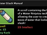Water Slash Technique