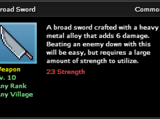 Broad Sword