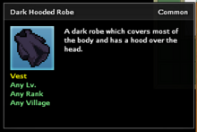Dark Hooded Robe