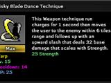 Risky Blade Dance Technique
