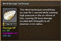 Wind barrage