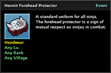 Hermit Forehead Protector