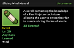 Slicing Wind Tenchnique Scroll Infobox