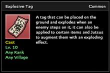 Explosive Tag