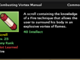 Combusting Vortex