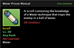 Water Prison Technique Scroll Infobox