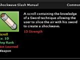 Shockwave Slash Technique