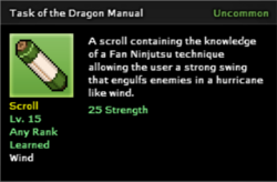 Task of the Dragon Technique Scroll Infobox
