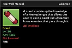 Fire Wall Technique Scroll Infobox