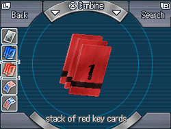 Stack of red key cards