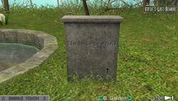 Garden Tombstone