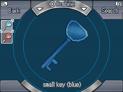 Small key (blue)