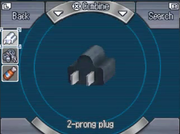 Lab 2-pronged plug