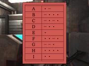 Morse Code Alphabet Key