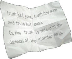Truth had gone