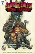 TMNT Bebop & Rocksteady Destroy Everything! Vol 1 1 RE Comics & Ponies Variant