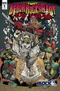 TMNT Bebop & Rocksteady Destroy Everything! Vol 1 1 RE Nerd Block Variant