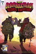 TMNT Bebop & Rocksteady Destroy Everything! Vol 1 1 RE MASSive Comic Con Variant