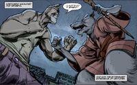 IDW TMNT Issue 1 Splinter vs. Old Hob