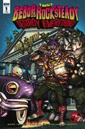 TMNT Bebop & Rocksteady Destroy Everything! Vol 1 1 RE Heroes & Fantasies Variant