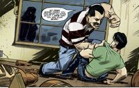 IDW TMNT Issue 1 Casey is Being Beaten by His Father