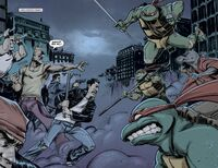 IDW TMNT Issue 1 Turtles and Splinter vs. Old Hob and the Thugs