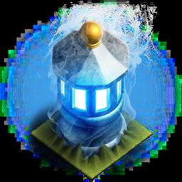 Blue fire lantern