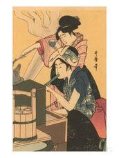Japanese-woodblock-cooking