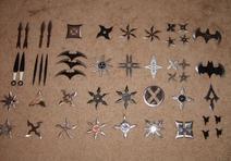Various Ninjutsu Throwing Weapons