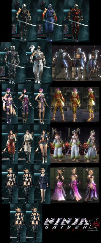 Costumes Ninja Gaiden Wiki Fandom